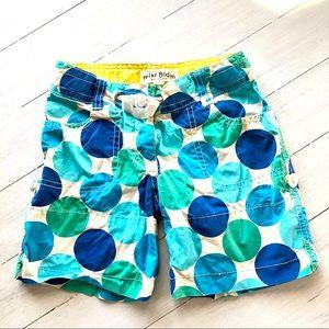 MINI BODEN Boys Swim Trunks Shorts 6Y